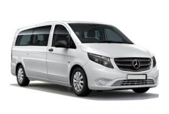 Mercedes Benz Vito to hire with a private chauffeur