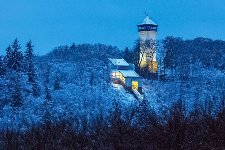 Diana Tower in Karlovy Vary (Carlsbad), Czechia