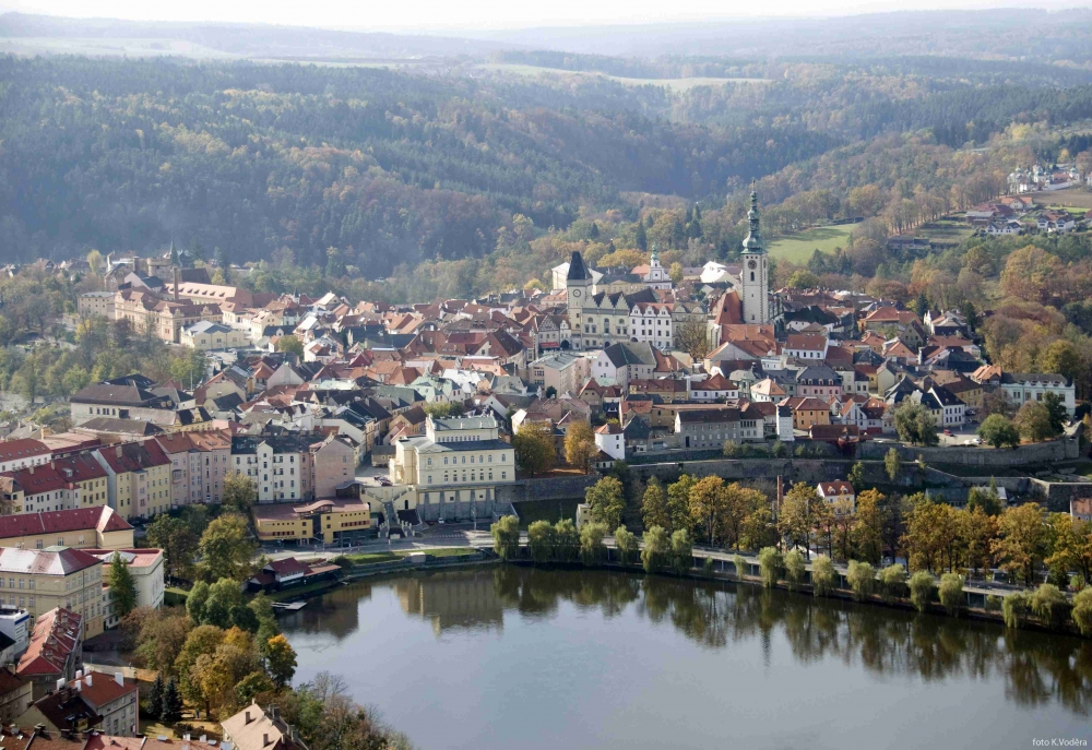 Panorama view of Tabor city