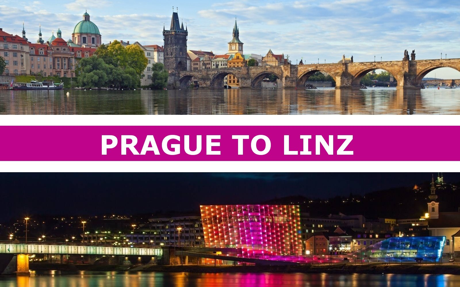 Transportation from Prague to Linz