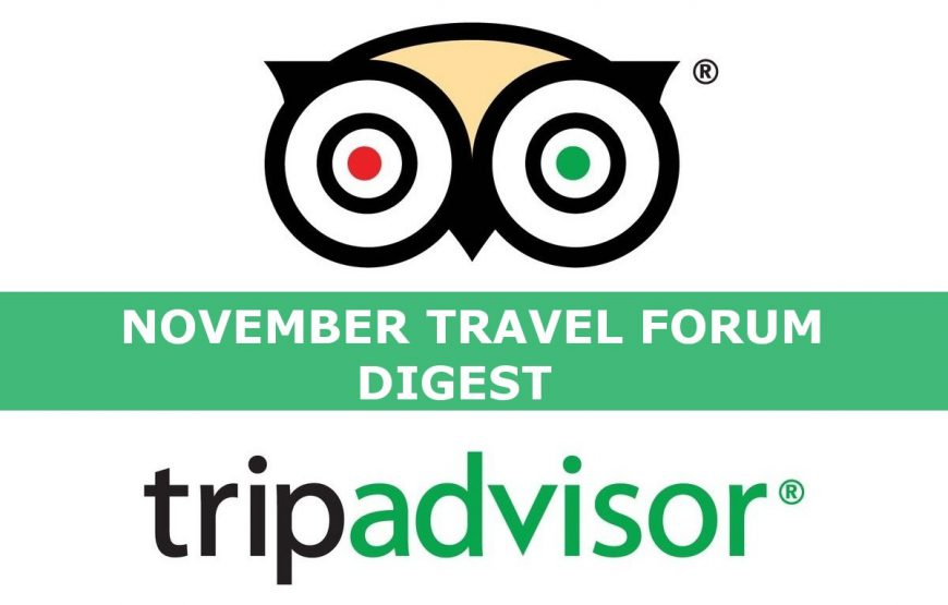 The most frequently asked question on the TripAdvisor November 2019