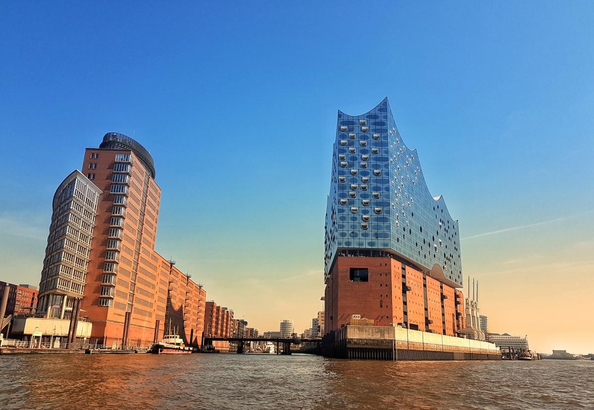 Hamburg port Northern Germany
