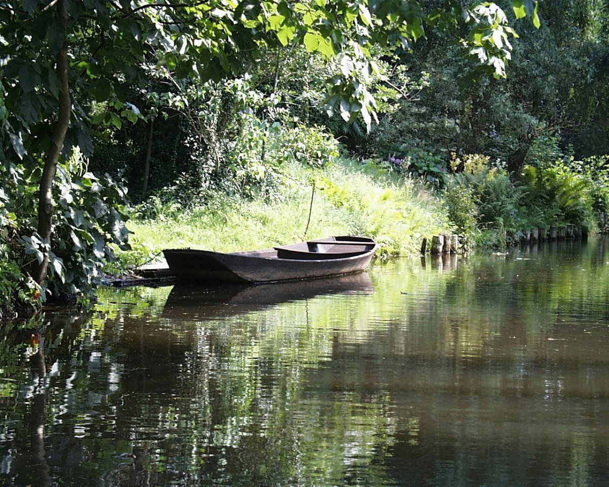 Romantic part of Spreewald