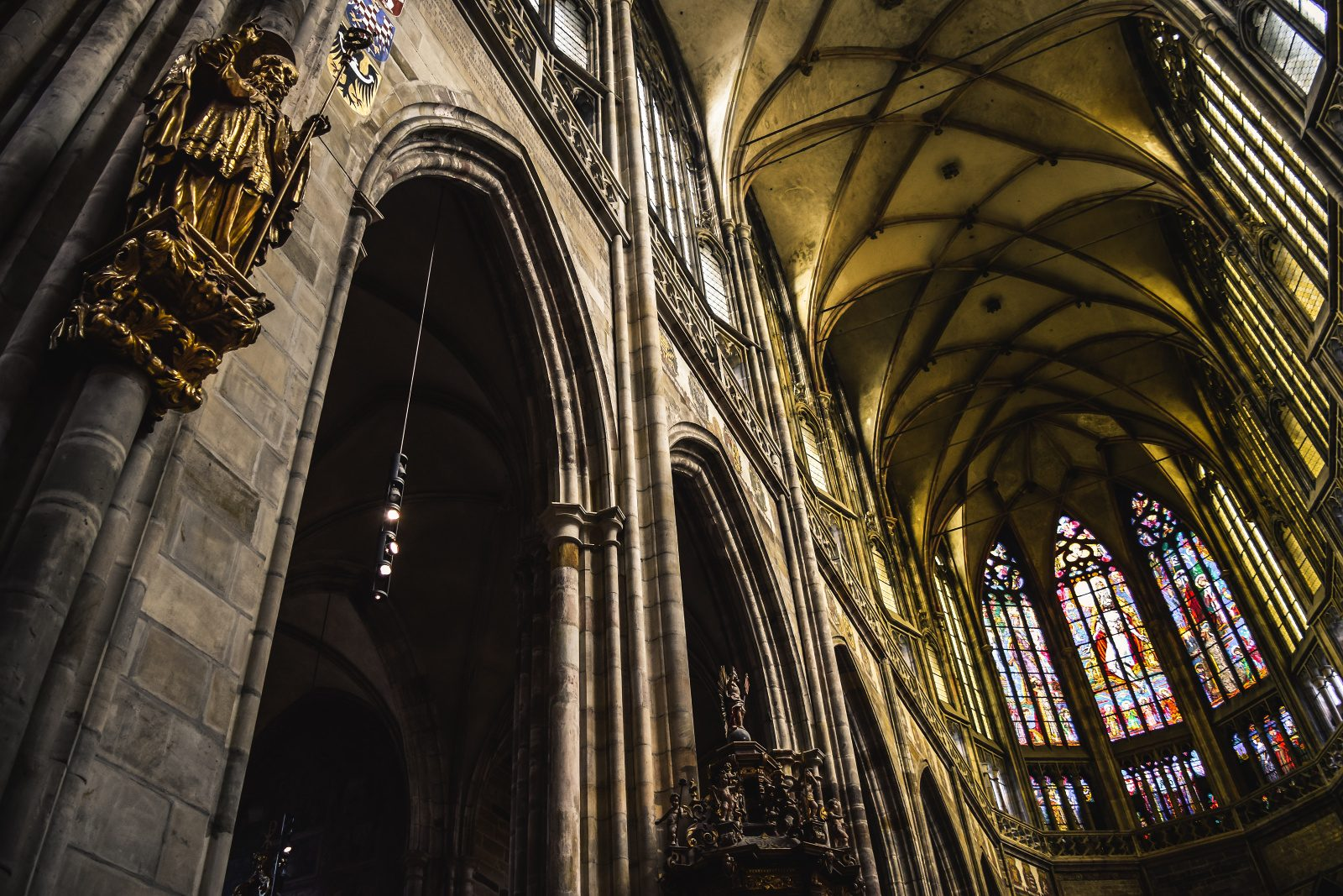 A view of the inside of the Saint Vitus Cathedral